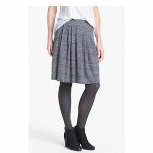 NWT Eileen Fisher Graphite Pleated K/L Skirt